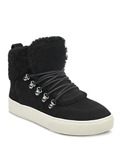 Marc Fisher LTD. - Women's Sana Faux-Shearling High-Top Sneakers